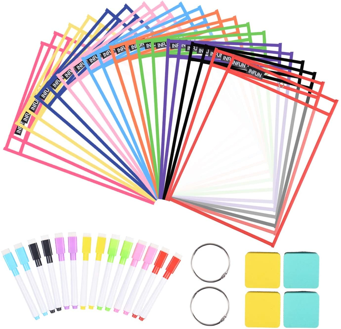 INFUN Genuine Free Shipping Dry Erase Sheets- Tampa Mall Pack, 20