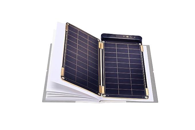 yolk yksp 5w solar paper portable solar charger- Black : Amazon.in:  Electronics