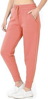 Nolabel Women's Jogger Sweatpants Cotton Fleece Warm Drawsting Workout Running Elastic Waist Pockets
