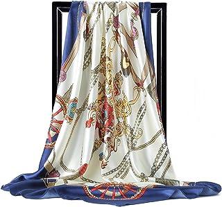 Mujer Bufanda Fulares Bufandas Pañuelo de Cuadrado para Chales Chal Estola de Gasa,Pañuelo de Cabeza para Pelo y Cuello