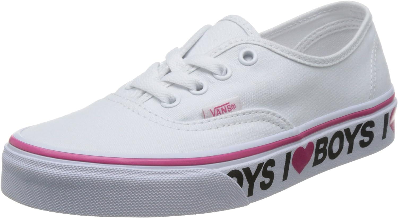 Vans Authentic (I Love Boys) True White/Beet Purple Skate Shoe