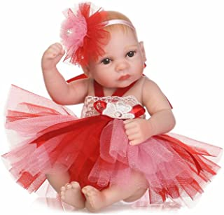 TERABITHIA 10 inch Mini Lifelike Full Body Reborn Baby Doll That Look Real, Little Princess Dressed in Colorful Dress