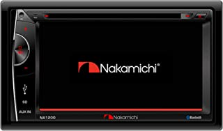 Nakamichi NA1200S Double-Din In-Dash 6.2 LCD Touch-Screen Display Multimedia CD DVD USB MP3 AM/FM Bluetooth Spotify & Pandora Car Stereo Receiver