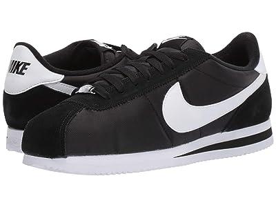 Nike Cortez Nylon (Black/White/Metallic Silver) Men
