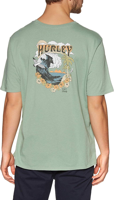 Hurley Men's Washed Flower Tubing Short Sleeve Tshirt