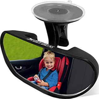 Rearview Baby Car Mirror Windshield Shatterproof Safety Backseat Infant Front Facing, Adjustable Suction Cup 100% Lifetime...