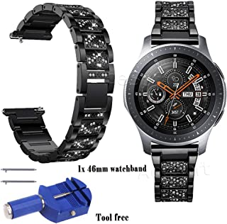 22mm Stainless Steel Replacement Band Accessory Strap for Verizon Samsung Gear S3 Classic SM-R775V with Free Watchband Disassembly Tool