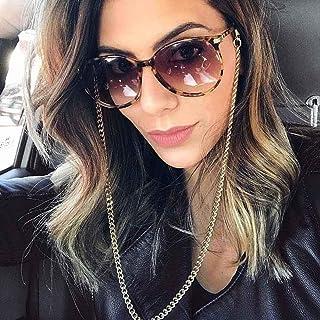 IYOU Chaîne de lunettes tendance en alliage doré pour lunettes de soleil - Accessoire anti-perte - Pour femme et fille