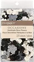 Prima Marketing Celebrate It Handmade Paper Flower Confetti 225/Pkg-Black, White & Gray Mix