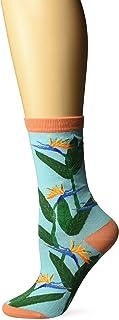 K. Bell Women's Tropical Paradise Novelty Casual Crew Socks