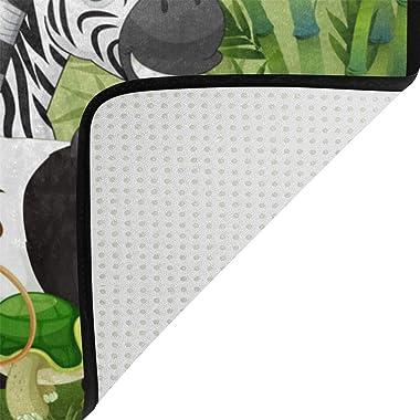 Mydaily Cartoon Animals Bamboo Doormat 15.7 x 23.6 inch, Living Room Bedroom Kitchen Bathroom Decorative Lightweight Foam Pri