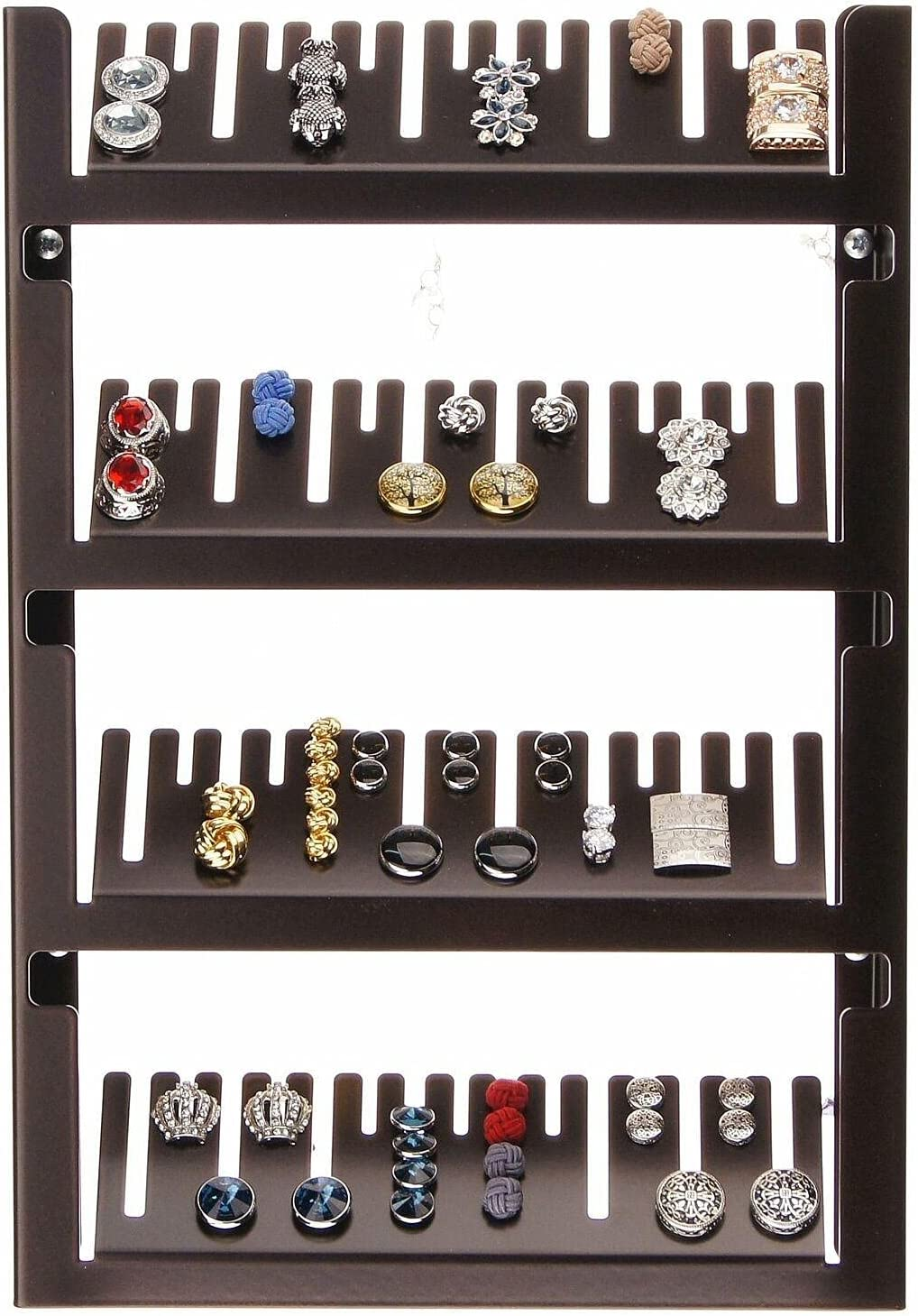 NEW Cufflink Nashville-Davidson Mall Organizer Storage Ring Holder Mount Jewelr Wall Display