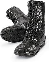 Amazon.com: Black Glitter Boots