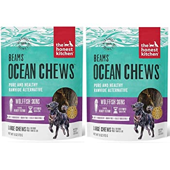 The Honest Kitchen Beams Fish Skin Treat - Dehydrated Grain Free Fish Skins Dog Chew, Talls 12 oz