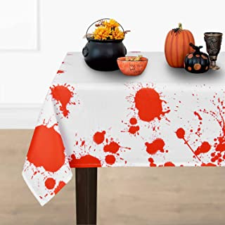 ASPMIZ Halloween Tablecloth, Bloodstained Table Cloth, Blood Drip Horror Scary Halloween Themed Tablecloth, Machine Washab...