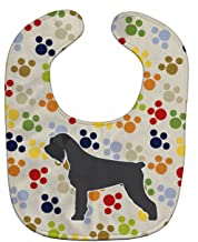 Caroline's Treasures BB6378BIB Pawprints Baby Bib, Giant Schnauzer, Large