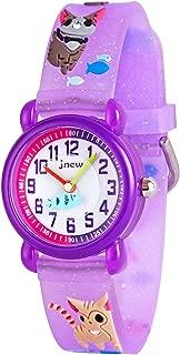 Wolfteeth Little Girls Boys Analog Wrist Watch Water Resistant School Day Christmmas Gift Sport Watch Unique TransparencyWatchband 3084
