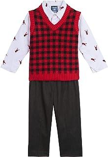 IZOD Baby Boys 3-Piece Sweater Vest, Dress Shirt, and Pants Set