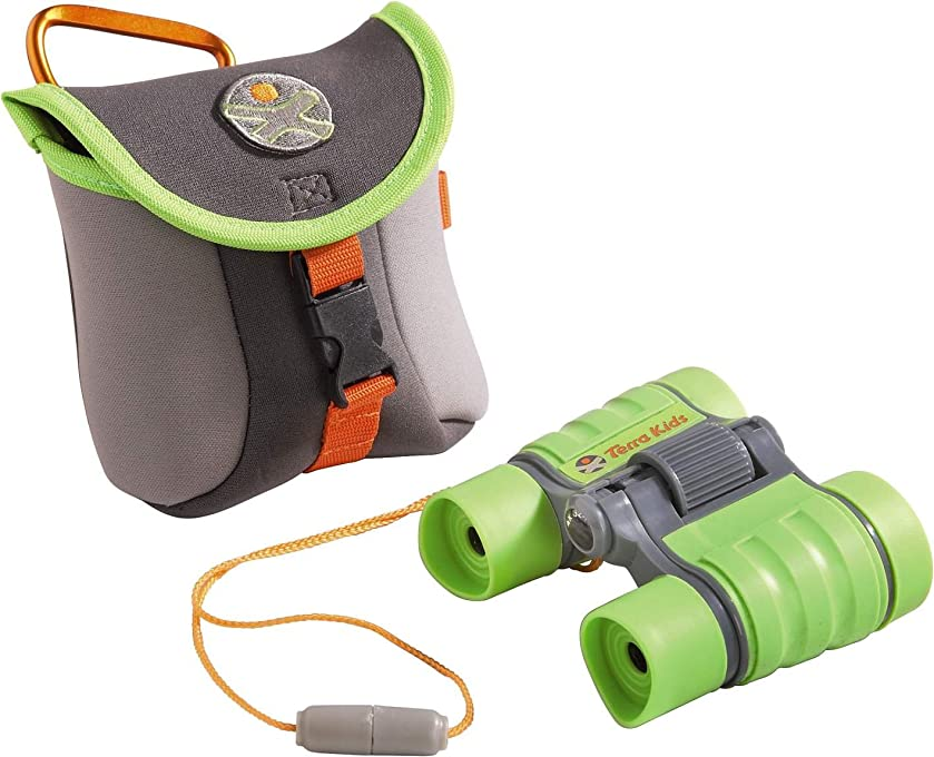 HABA Terra Kids Binoculars - Appropriate for Children & Scouts - Hiking, Camping, Fishing, Ball games - 4x30 Magnification with Compact Case