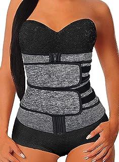 Acelitt Women Waist Trainer Weight Loss Corset Trimmer Belt Waist Cincher Body Shaper, Size S-XXXL