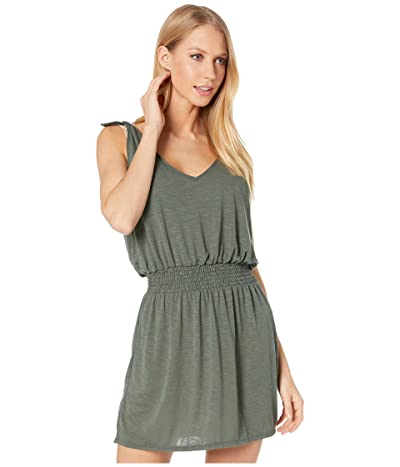 BECCA by Rebecca Virtue Breezy Basics Tie Shoulder Dress Cover-Up (Basil) Women