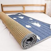 Summer Sleeping mat, Summer ice Silk air-Conditioning mat, Foldable Rattan mat, Three-Piece 1.8m Bed, Double-Sided mat, Fo...