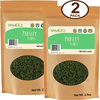 Yamees Dried Parsley - Parsley - Dry Parsley - Parsley Seasoning - Dry Parsley Flakes - Parsley Dried - Bulk Spices - 2 Pack of 2.5 Ounce
