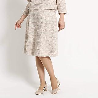 (ドレステリア) DRESSTERIOR 【WEB限定Lサイズあり】タックフレアーツイードスカート 08576002
