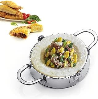 Best Utensils Ravioli Mold Commercial Pierogi Maker Empanada Press Stainless Steel Dumpling Wrappers Press Pastry Dough Cutter Kitchen Aid Baking Tools (L-DIA. 4 3/4 inch)