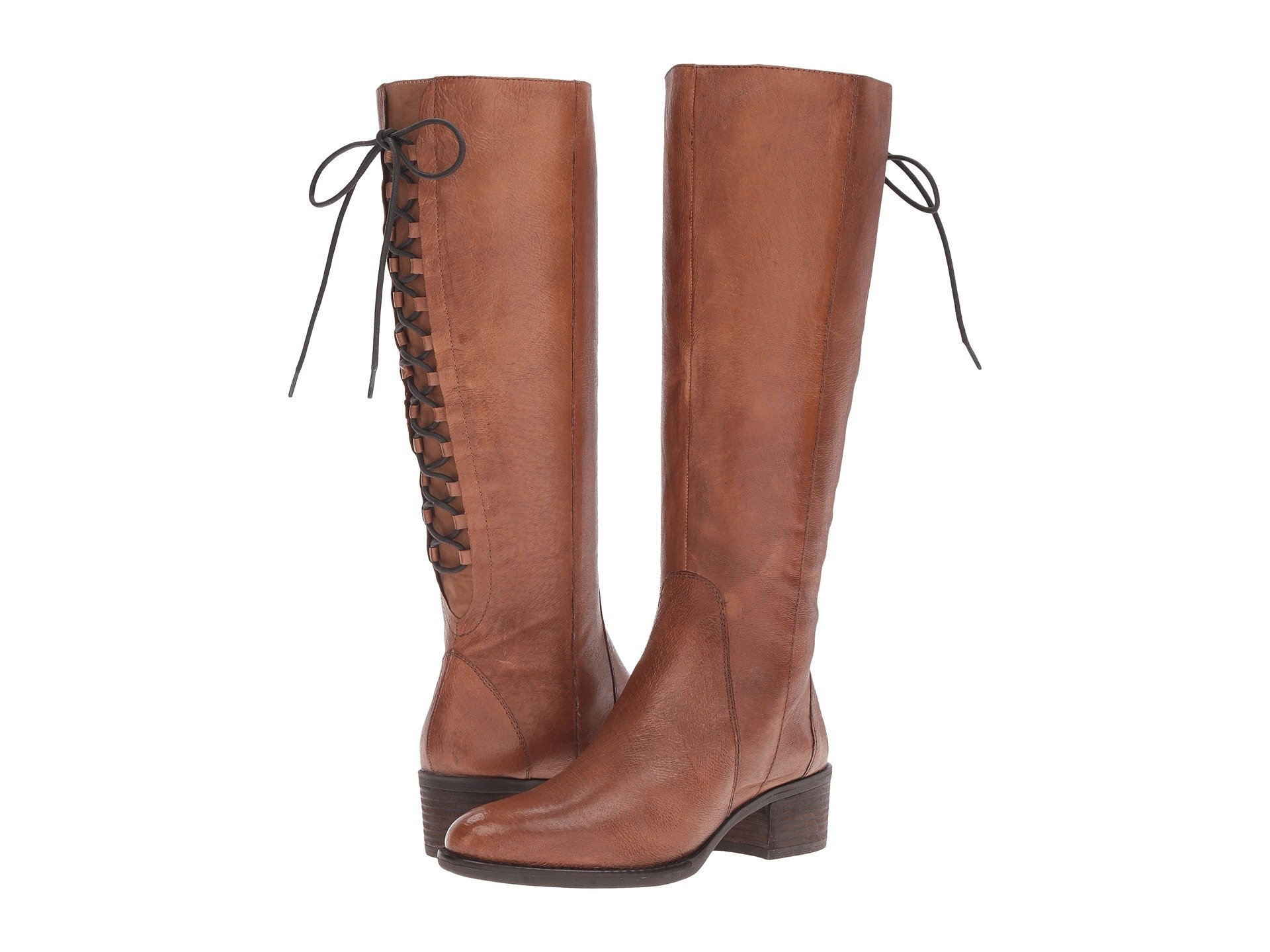 Laceup Wide, Cognac Leather