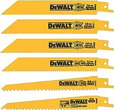 DEWALT Reciprocating Saw Blades, Metal/Wood Cutting Set, 6-Piece (DW4856)