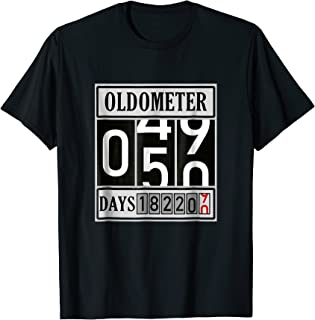 7b48141a OLDOMETER 50 Years Old T-Shirt Made In 1968 50th Birthday