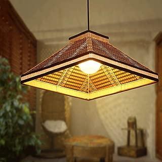 Modeen Simple Rural Bamboo Arts Weave Adjustable Chandelier E27 Light Balcony Aisle Restaurant Kitchen Farmhouse Art Clothing Store Ceiling Pendant Lamps