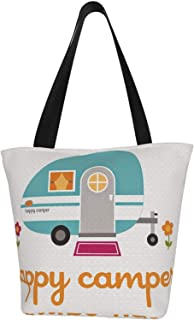 Tote Bag For Her Camping for Her Totes Happy Camper Everyday Tote Bag Mother/'s Day Gifts Travel Lover Gift for Mom Camping