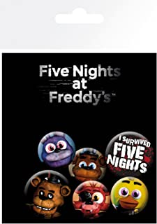 Five Nights At Freddys Badge Set (Pack Of 6)