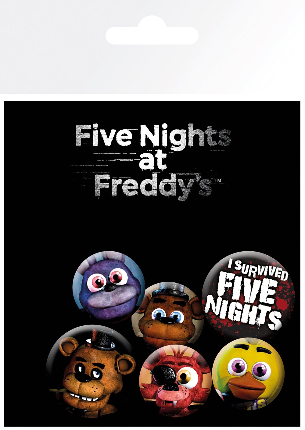 GB eye Five Nights at Freddys Mix Badge Pack, Aluminum, Multi-Colour, 14 x 0.3 x 10 cm