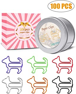 Paper Clips, Funny Dog Shape Paperclips for Office Supply School Student, Secret Santa Gifts, Gag Gifts for Pet Lovers and Women Gifts(100 pcs) (100)