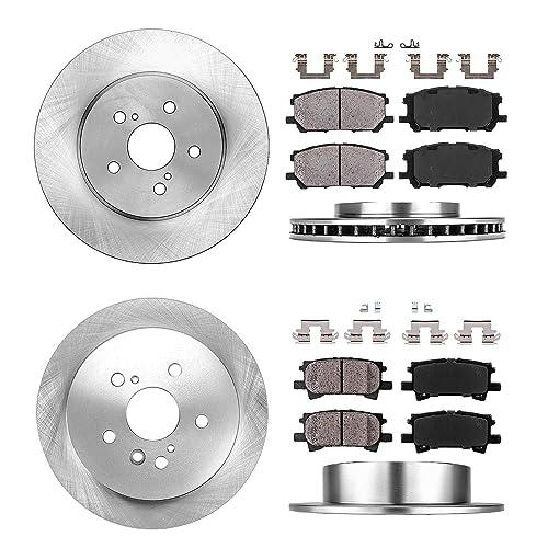 OE Replacement 2014 2015 Toyota Highlander Rotors Metallic Pads R