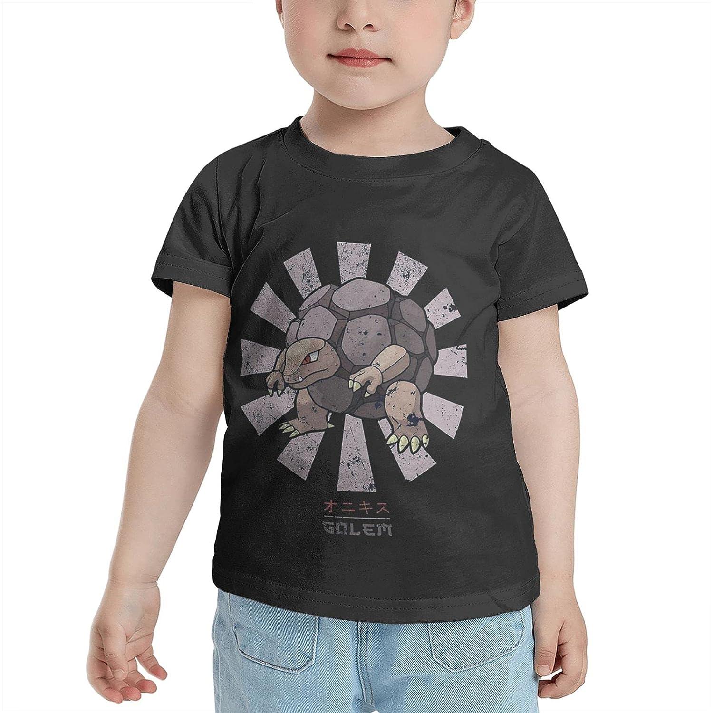 Poke Golem Retro Japanese T Shirt Boys Child Shirts Crewneck Short Sleeve Tops Tshirts Tshirts for Boy Girl's Boy's