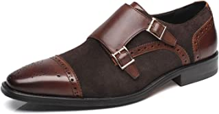 Mens Leather Double Monk Strap Loafer