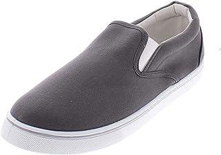 Doug Mens Slip On Shoes,Casual Skate Canvas Sneakers,Slipon Men's Boat Deck Shoe
