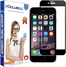 CELLBELL Full Glue Edge to Edge Tempered Glass Screen Protector Guard for iPhone 7(Black)