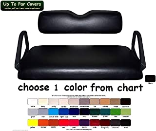E-Z-Go TXT Custom Golf Cart Seat Cover Set Made with Marine Grade Vinyl - Staple On - Choose Your Color From Our Color Chart!