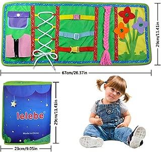 Spitze Und Krawatte Lernen Druckknopf Rei/ßverschluss Schnalle Grundfertigkeiten F/ür Feinmotorik Und Lernen 1-5 Jahre Baby Busy Board