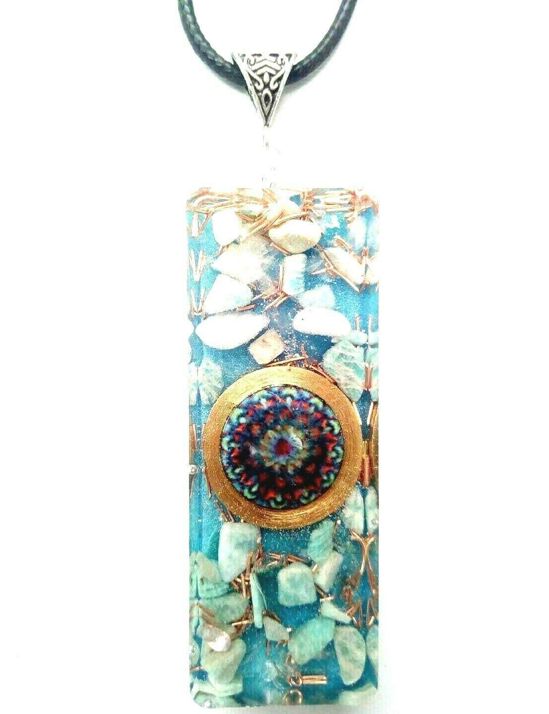 necklace Orgone List price Orgonite pendant Mandala Re Amazonite All stores are sold