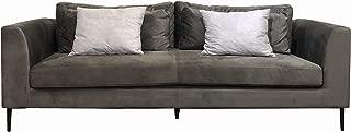 Landry Modern Diamond Tufted Soft Velvet Sofa