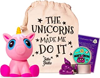 Magnetic Unicorn Putty Stress Relief Kit - Jumbo Pink Unicorn Squishy and Magnetic Putty with Magnet - Unicorn Gift Set for Girls who Love Unicorns. Fun Sensory Play Toy Set for Silly Therapy, Ages 8+