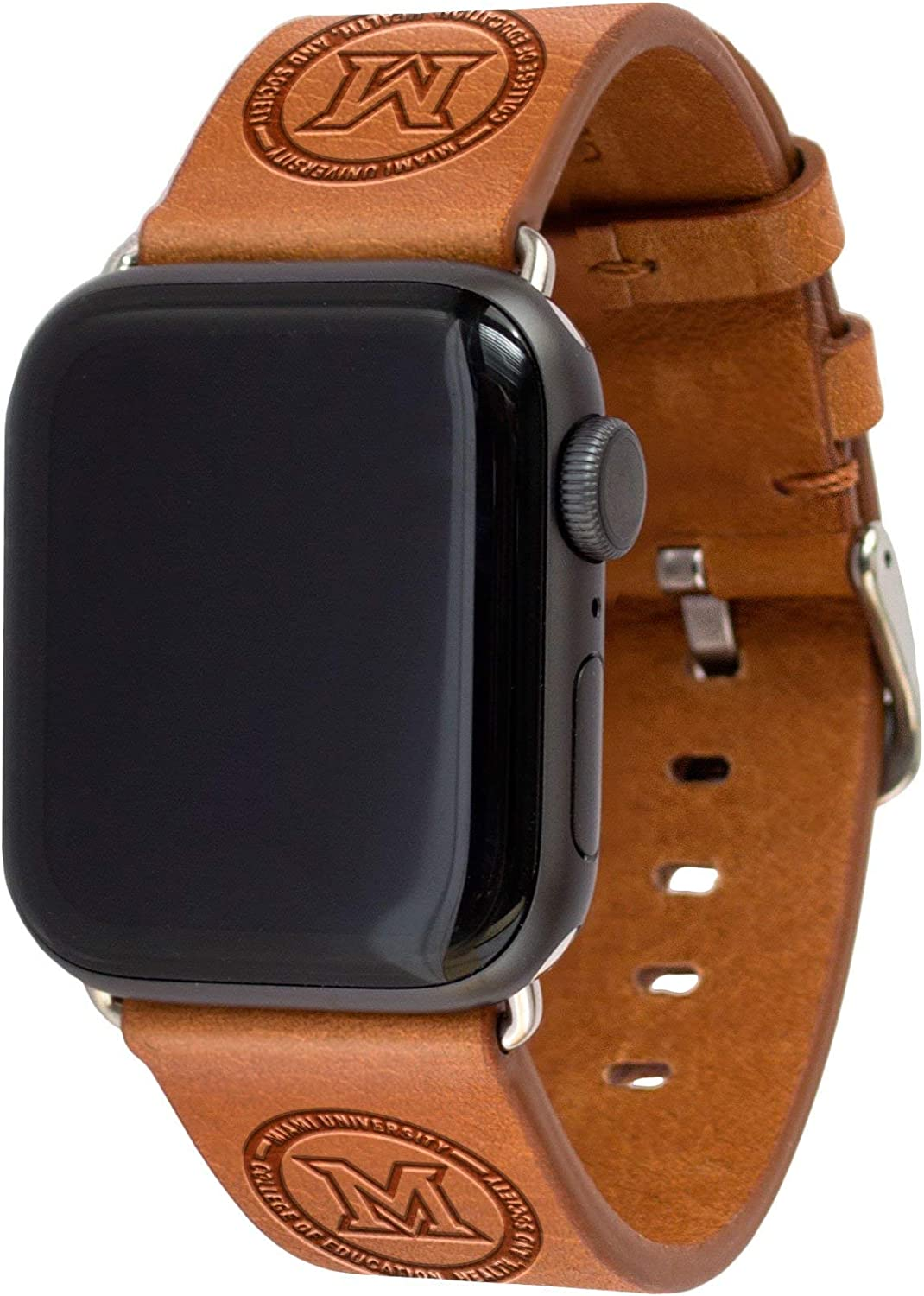Miami University College of Education, Health, and Society Leather Watch Band Compatible with Apple Watch