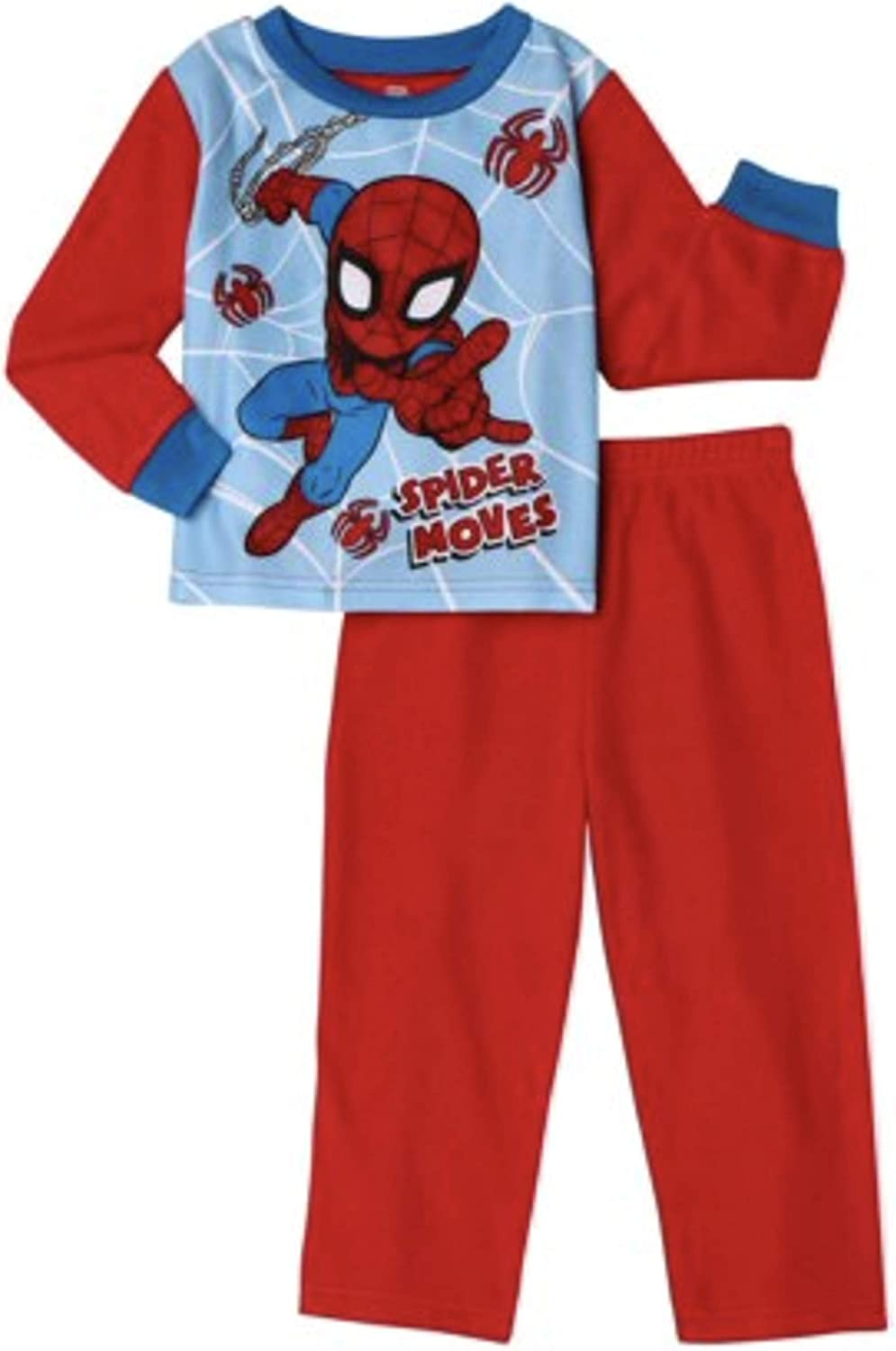 Spiderman Pajamas 2-Piece Spider Moves Long Sleeve PJ Set for Toddlers