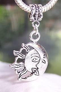 Half Sun Moon Symbol Goddess Rebirth Dangle Charm for European Slide Bracelets Crafting Key Chain Bracelet Necklace Jewelry Accessories Pendants